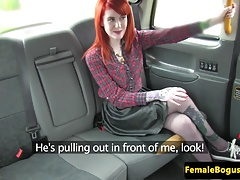 Stockinged taxi all girl..